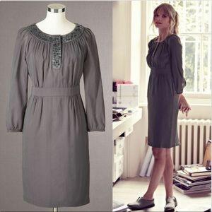 Boden 10LONG Embellished Olivia Long Sleeve Dress